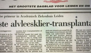 First pancreas transplantation in the Netherlands